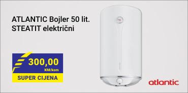 ATLANTIC Bojler 50 lit.STEATIT električni