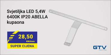 Svjetiljka LED 5 4W 6400K IP20 ABELLA kupaona